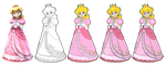 Princess Peach Vector Drawing by Juliannb4