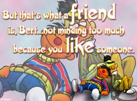 Bert and Ernie wallpaper by CrackpotComics