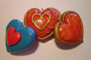Legend of Zelda Heart Containers by delicioustrifle