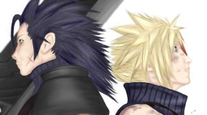 Zack and Cloud by Carla-Deep