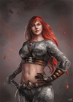 Red Sonja: Conservative Armor by Mikesw1234