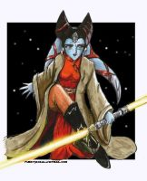 Salores Deethan Jedi Master by furry-jackal