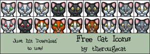Cat Icons - Free to Use by therougecat