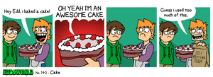 EWCOMIC No.140 - Cake by eddsworld