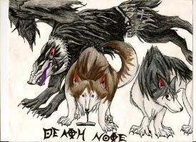 Death Note: wolf forms by Akumu09