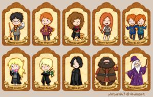 . Harry Potter Bookmarks . by phatpandax3