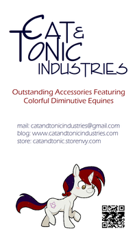 Cat and Tonic Industries Business Card by sparklepeep