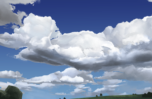 Daily Sketch #0092 - Cloud Study by GhostlyCarrot
