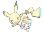 3D pikachu - anaglyph by DunnyCT