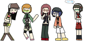 Persona 4 Girls TWEwY Cosplayed by PMiller1