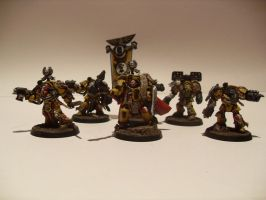 Imperial Fist Terminator Command Squad by iron-revolution
