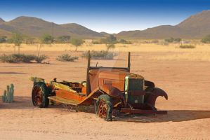 Old car in Solitaire Namibia by Kameeldoring76