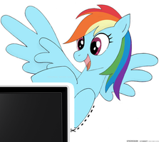 Rainbow Dash Monitor Buddy by EpicOverload
