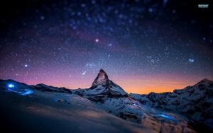 Starry-night-sky-over-the-mountains by MayWhite5
