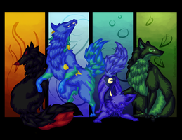 Elemental Wolf Request by CalicoNorth