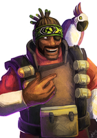 TF2 Demoman - Green and Purple by Essence-Of-Rapture