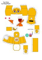 five nights at freddy's 2 Toy Chica papercraft pt1 by Adogopaper