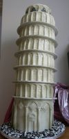 Leaning Tower of Cake by cakesunlimited