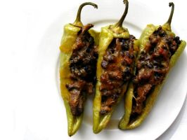 Stuffed Chili Peppers by acquiredflavor