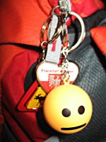 My Blank Face keychain by gingergenius