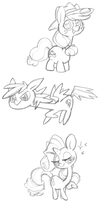 poni sketches by Momogirl
