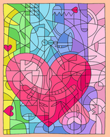 Mosaic heart by metal-marty