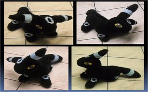 Shiny Umbreon Plush by fangs211