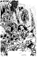 Masters of the Universe Zombie Apocalypse Inks by pycca