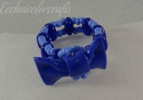 Blue Ribbon Ring by technicolorcrafts