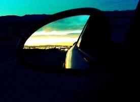 Sunset in the Rearview by Baby-J-Blue-Eyes