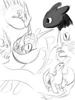 HTTYD Sketches by artico