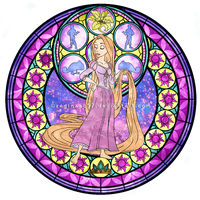 Princess Rapunzel - Kingdom Hearts Stain Glass by reginaac57