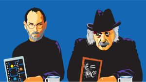 Steve Jobs Vs Albert Einstein by Zenith-E