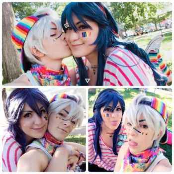 Pride with Lucina and Robin by BleachcakeCosplay