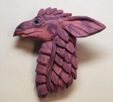 Purple Dragon brooch by wyrmaster