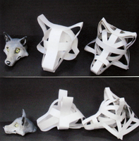 Wolf's heads by cuddles-n-cow