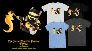 Little Shadow Shaman T-Shirt by Sajedene