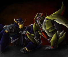 Request: Dreadwing and Skyquake by RaspberryBananaCreme