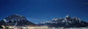Zugspitze Mountains at Night by Creative--Dragon