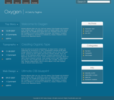 """Oxygen"" Wordpress Theme by alexjames01"