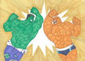 Hulk vs Thing: Clash of the Titans! by RobertMacQuarrie1