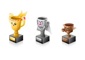 Vector Trophies - Winners and Losers by RoryDoona