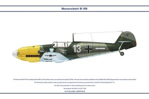 Bf 109 E-3 JG77 1 by WS-Clave