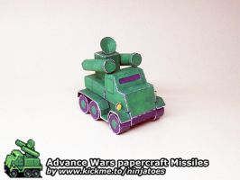 papercraft Advance Wars Green Earth Missiles by ninjatoespapercraft