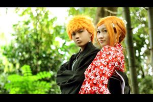 IchiHime - Summer by recchinon