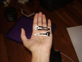 Danny Phantom Hairclips by The-Clockwork-Crow