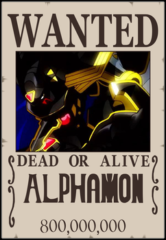 Alphamon wanted poster by scott910