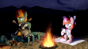 Commission - Another night in the Wasteland desert by ShinodaGE