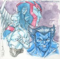 Iceman, Beast, Archangel by ToddNauck