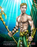 Aquaman injustice gods among us by Steven-H-Garcia